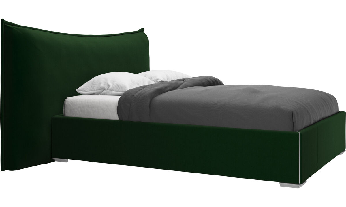 Beds - Gent storage bed with lift-up frame and slats, excl. mattress - Green - Fabric