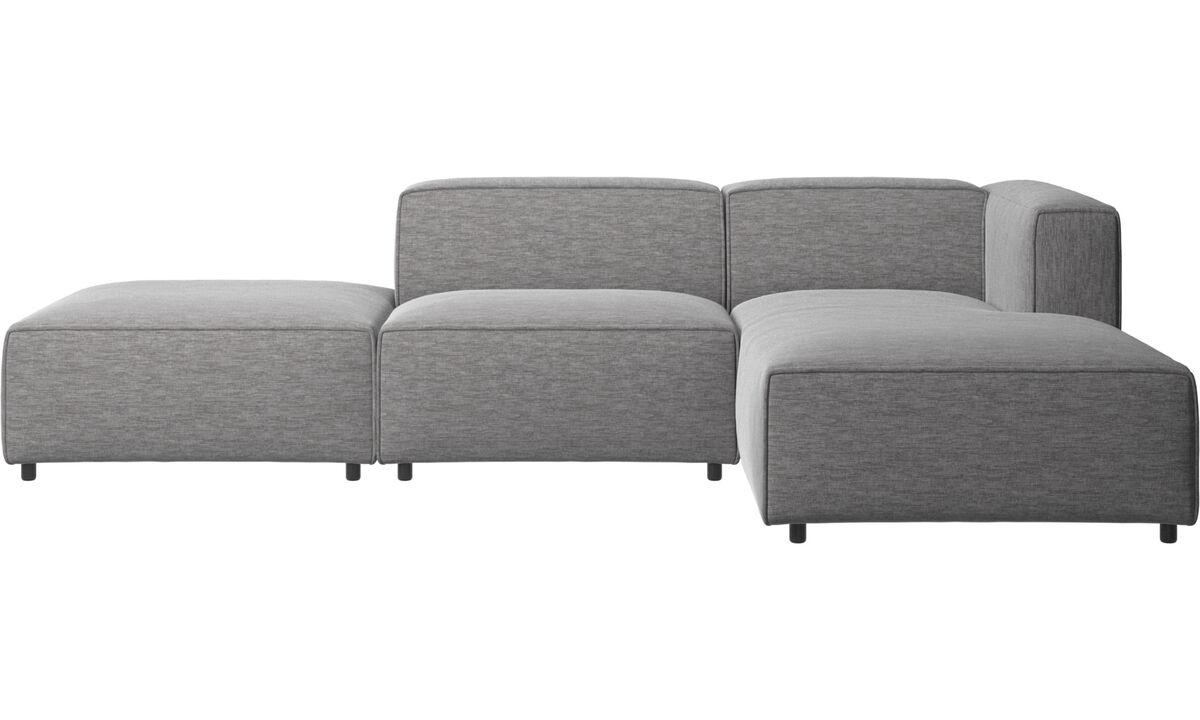 Chaise longue sofas - Carmo divano con penisola relax - Grigio - Tessuto