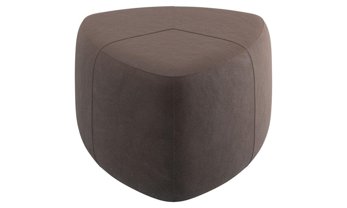 Footstools - Bermuda footstool - Brown - Leather