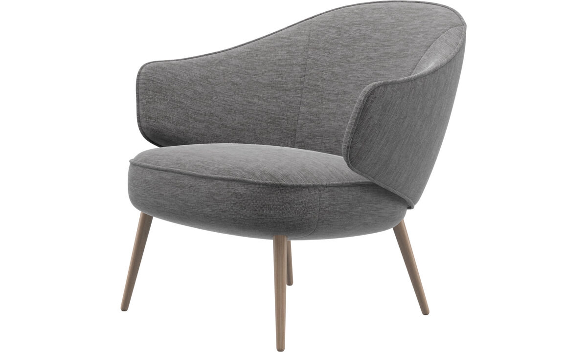 Armchairs - Charlotte chair - Grey - Fabric