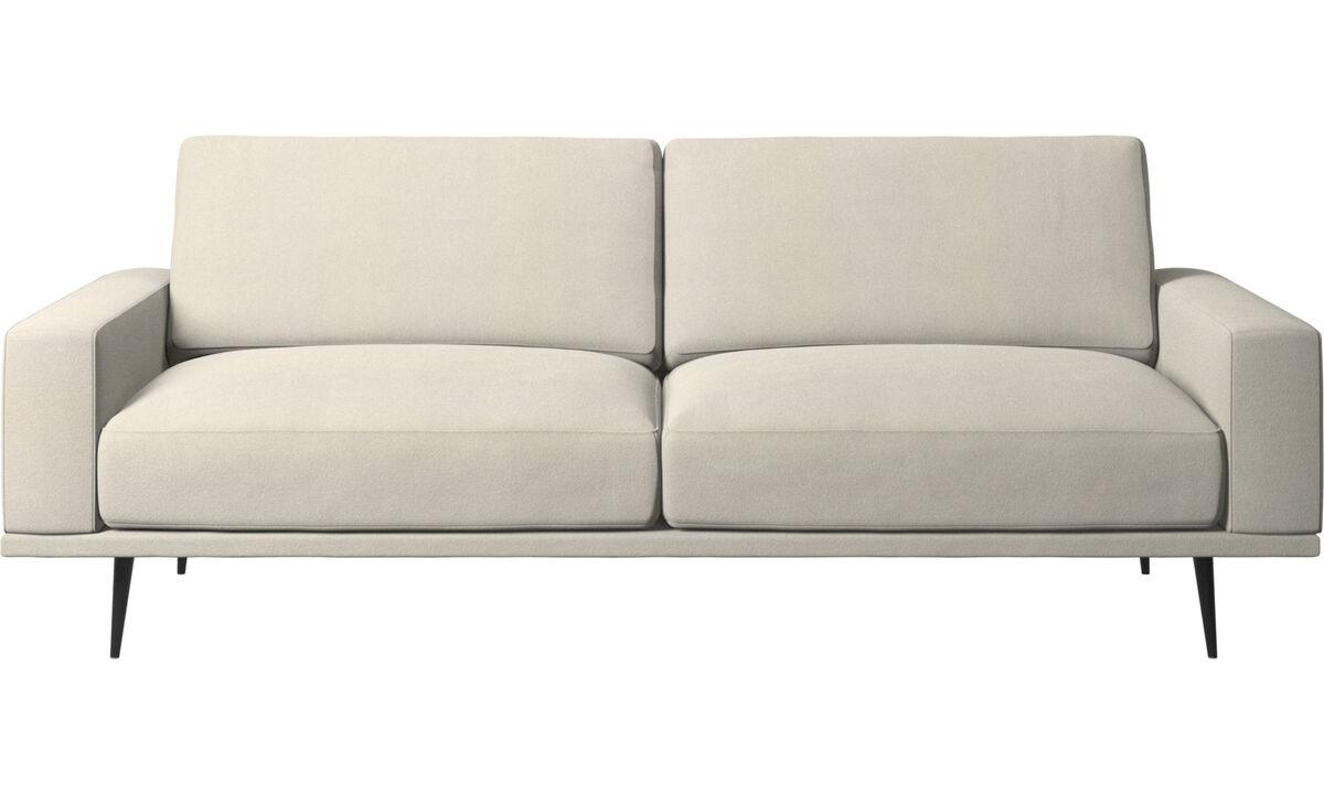 2.5 seater sofas - Carlton sofa - White - Fabric