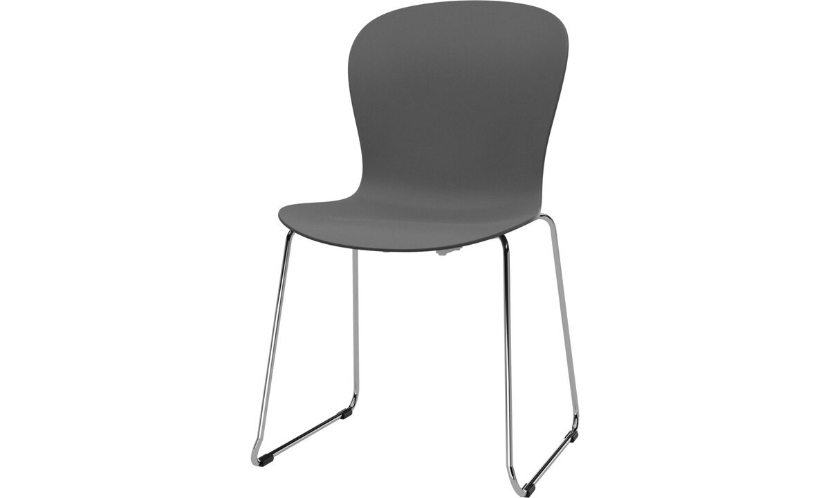 Dining chairs - Adelaide chair - Grey - Plastic