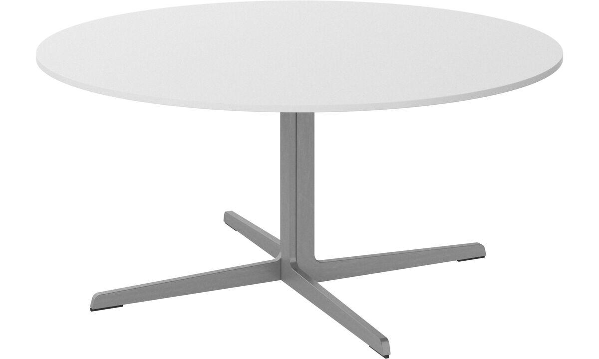 Mesas de centro - mesa de centro Sevilla - redondo - Blanco - Cristal
