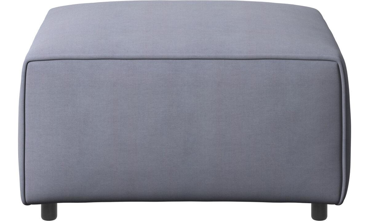 Modular sofas - Carmo 脚凳 - 蓝色 - 布艺