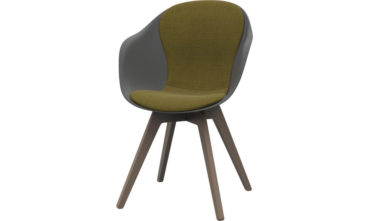 Chaises de salle à manger - chaise Adelaide - Jaune - Tissu