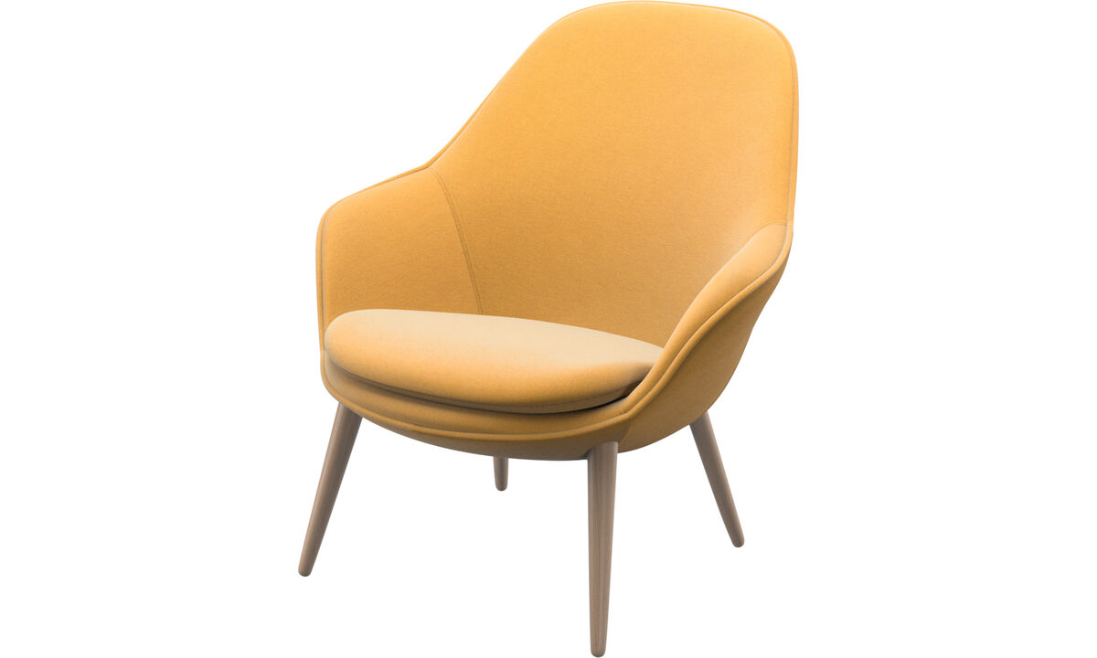 Armchairs - Adelaide living chair - Yellow - Fabric