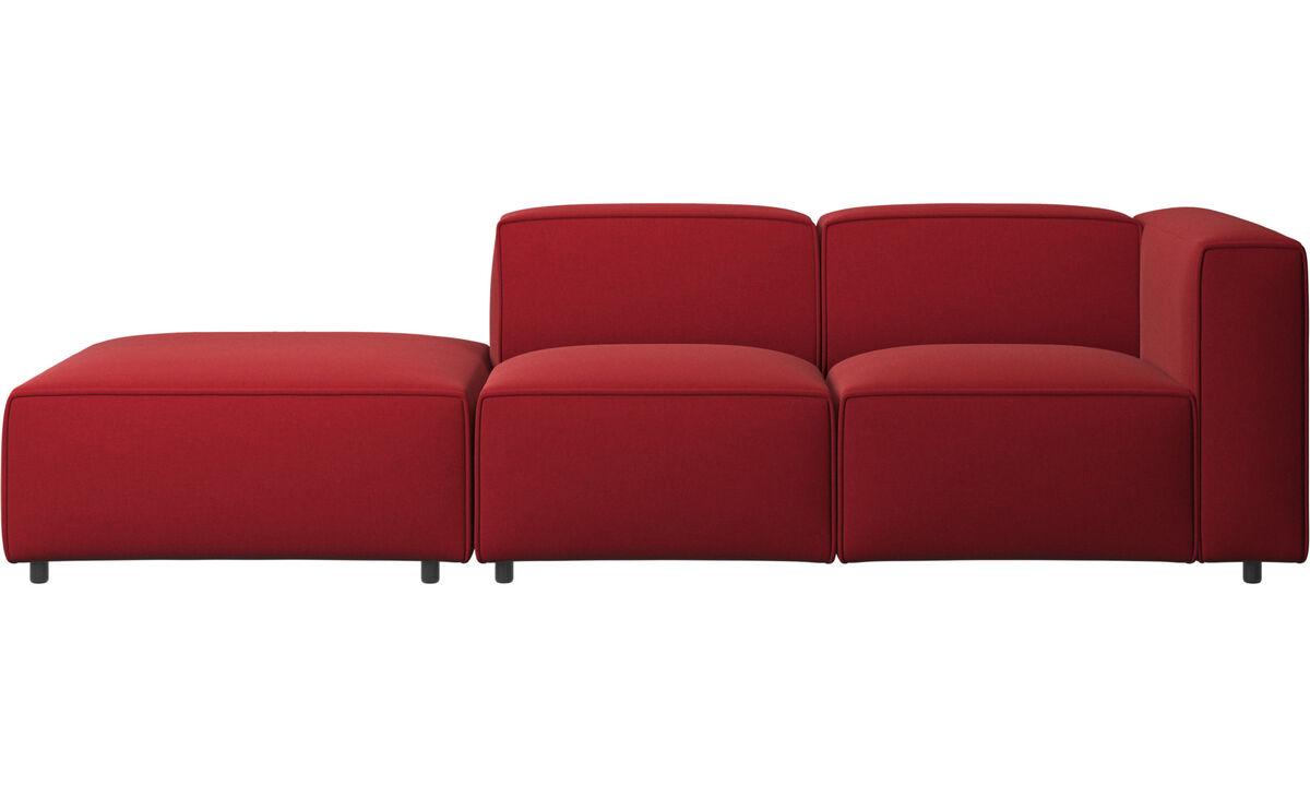 Sofás con lado abierto - Sofá Carmo con movimiento - Rojo - Tela