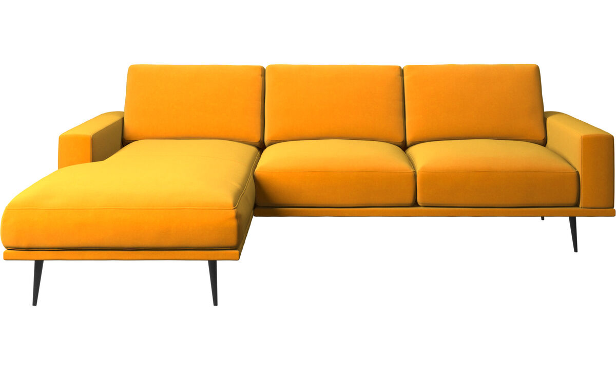 Chaise lounge sofas - Carlton sofa with resting unit - Orange - Fabric