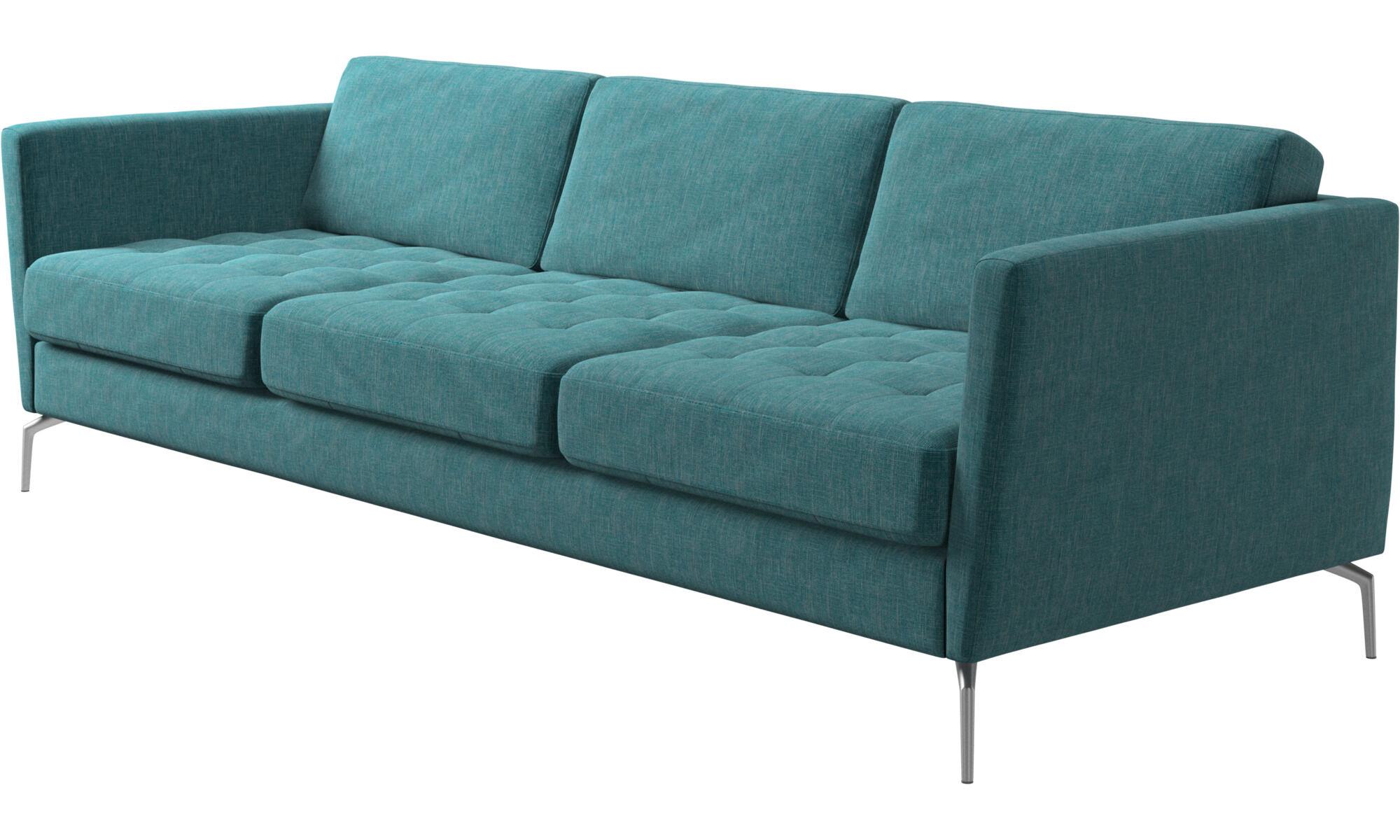 Schon ... 3 Sitzer Sofas   Osaka Sofa, Getuftete Sitzfläche   Blau   Stoff ...