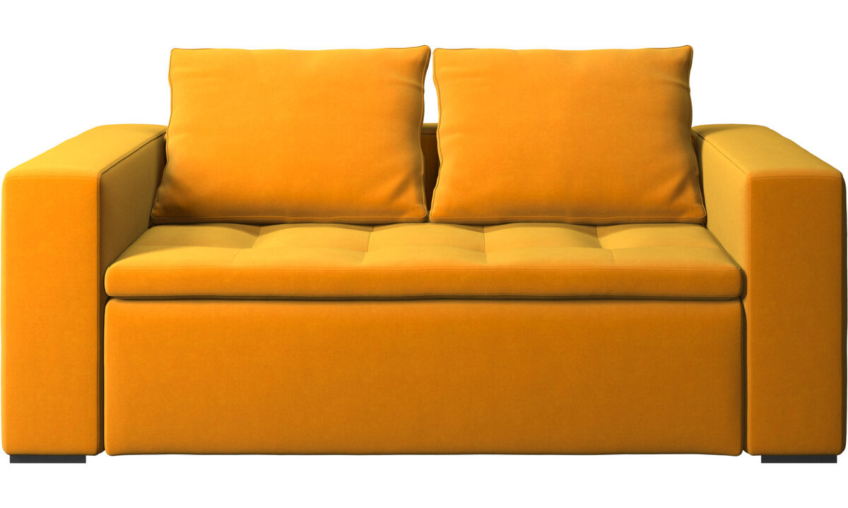 2 seater sofas - Mezzo sofa - Orange - Fabric