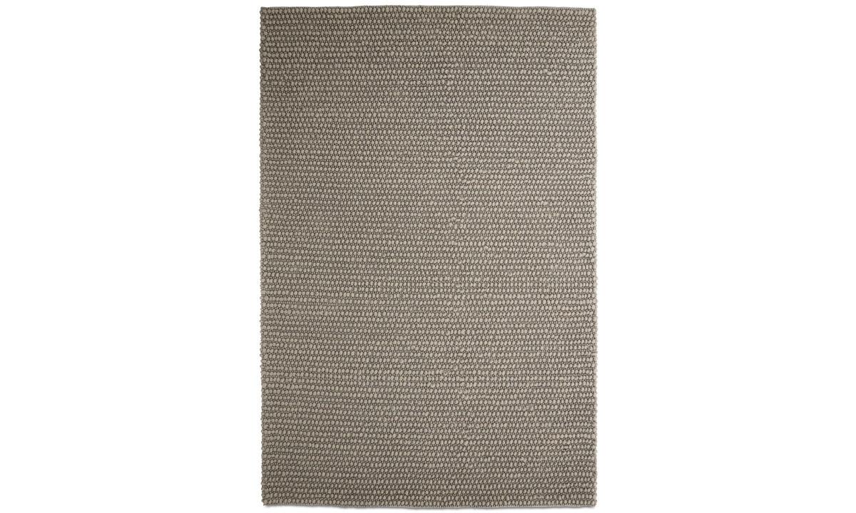 Alfombra rectangulares - Alfombra Nordic - rectangular - En gris - Lana