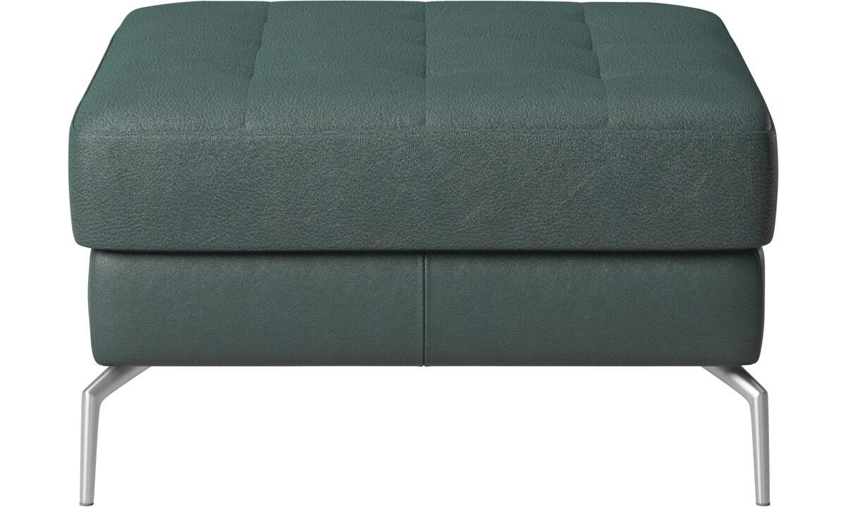 Footstools - Osaka footstool, tufted seat - Green - Fabric