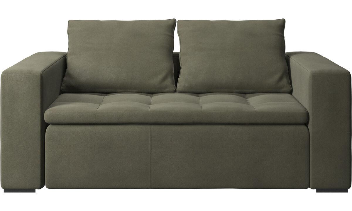 2 seater sofas - Mezzo sofa - Green - Leather