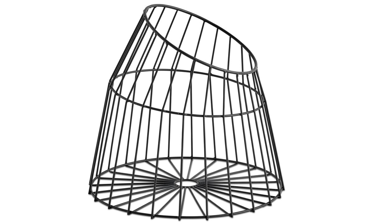 Small storage - Net basket - Black - Metal