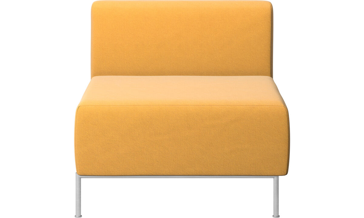Armchairs - Miami seat with back - Yellow - Fabric