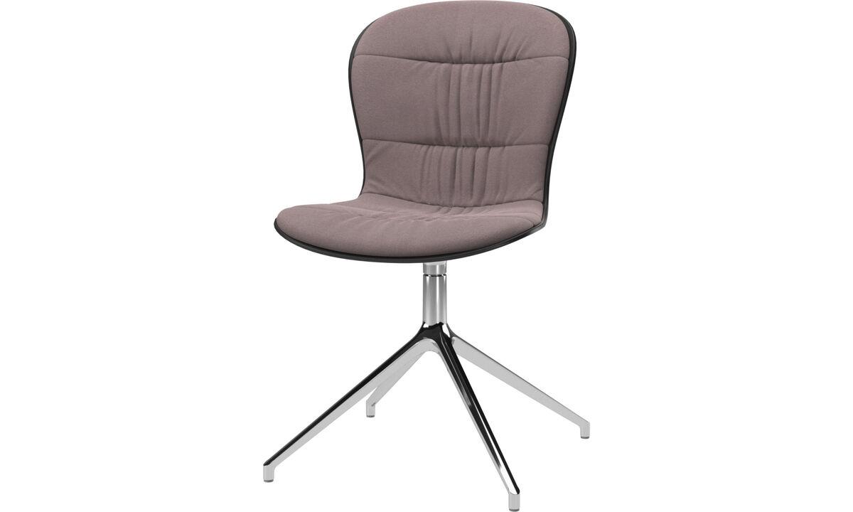 Sillas de comedor - silla Adelaide con función giratoria - Morado - Tela