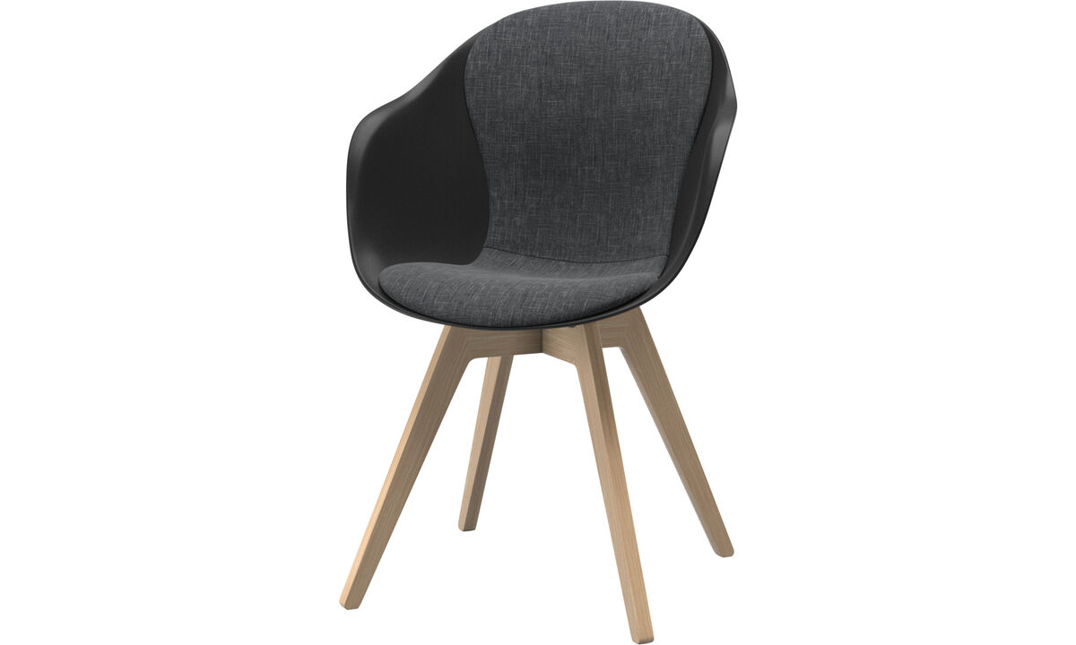 Dining chairs - scaun Adelaide - Grey - Fabric