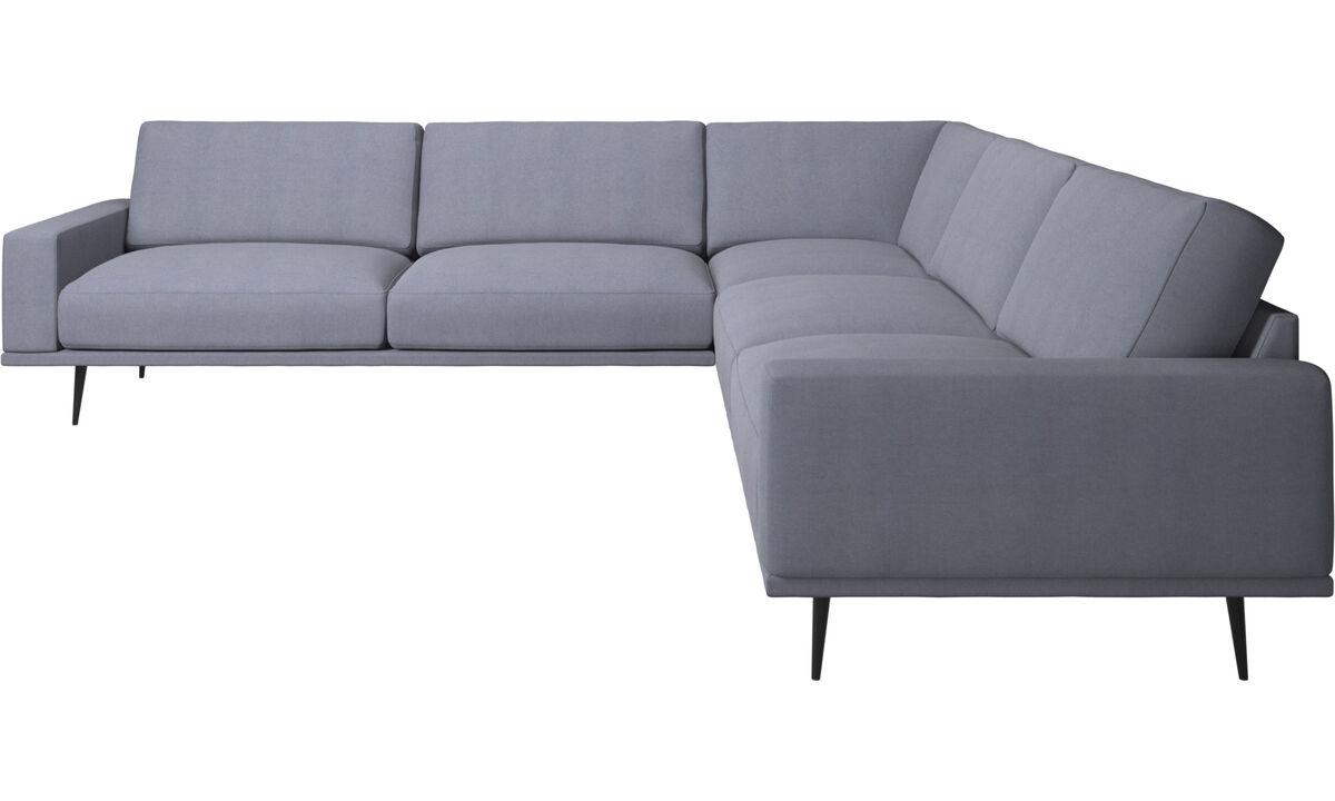 Corner sofas - Carlton corner sofa - Blue - Fabric