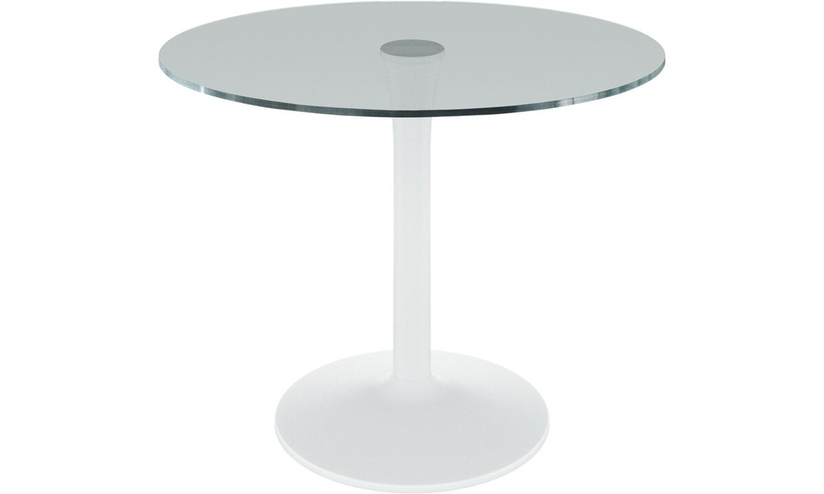 Dining tables - masa New York - rotund - Transparenta - Sticla