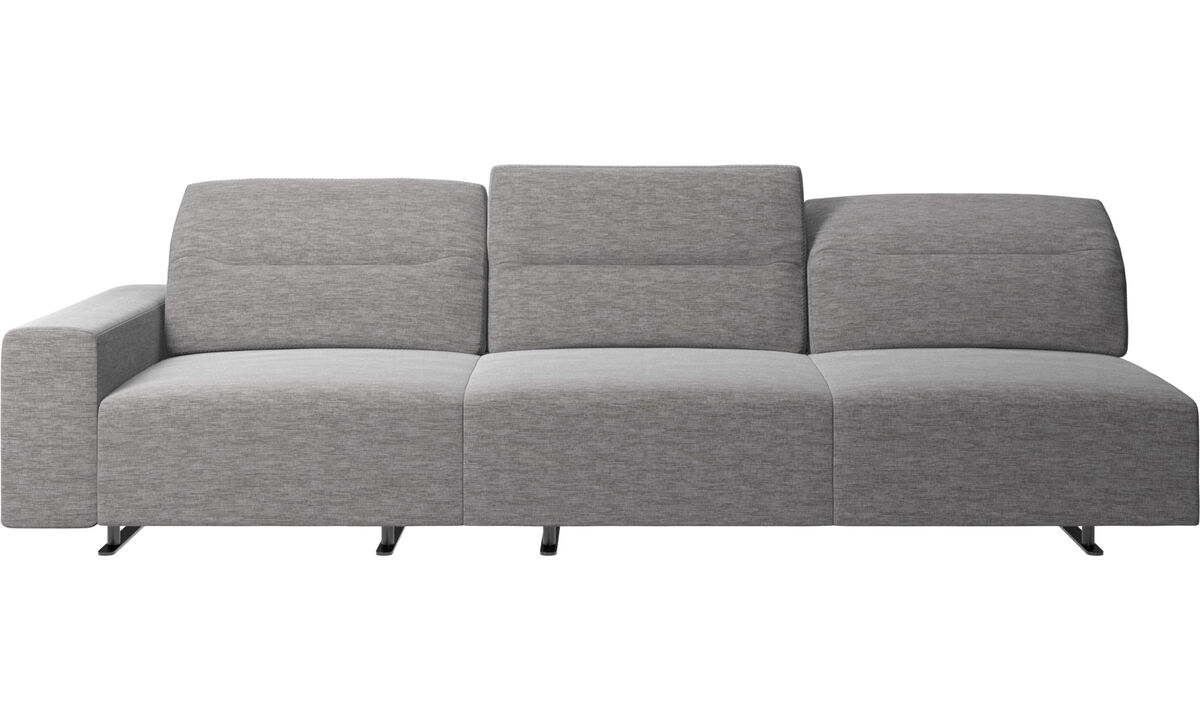 3 seater sofas - Hampton sofa with adjustable back - Grey - Fabric