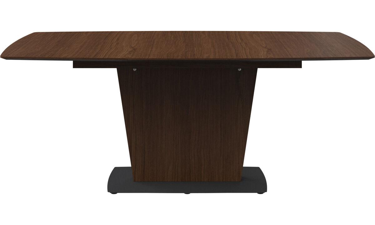 Mesas de comedor - mesa Milano - rectangular - En marrón - Laca