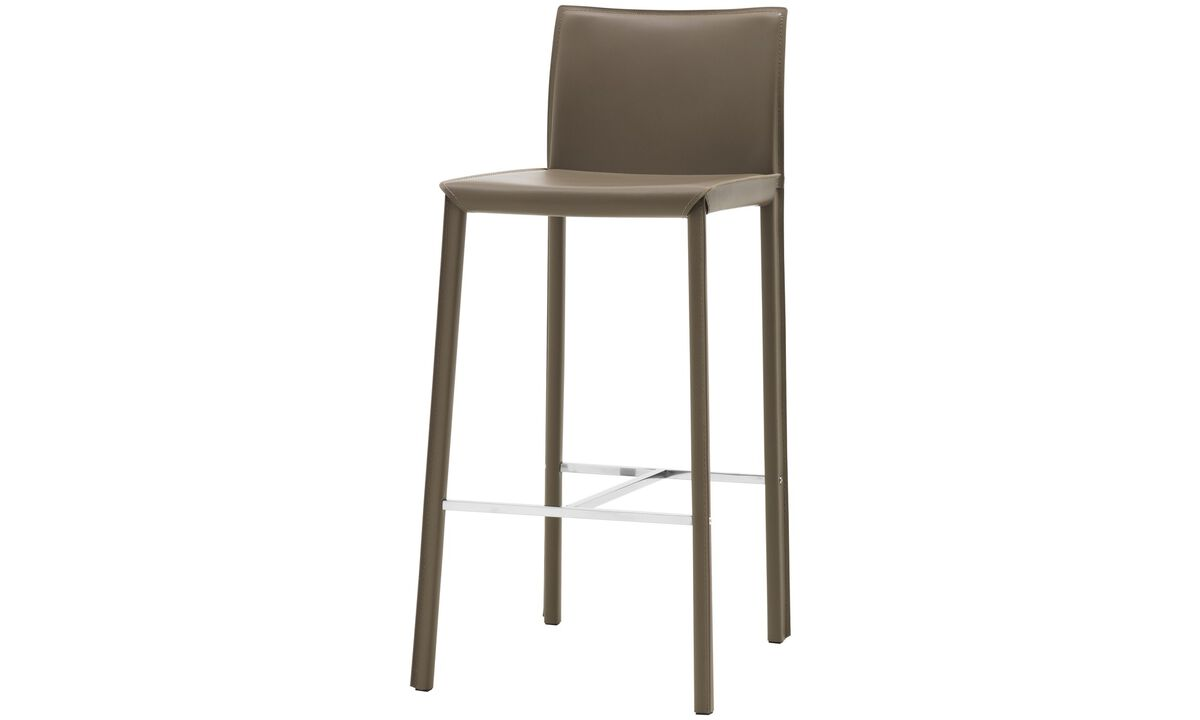 Barstools - Zarra barstool - Gray - Bonded leather