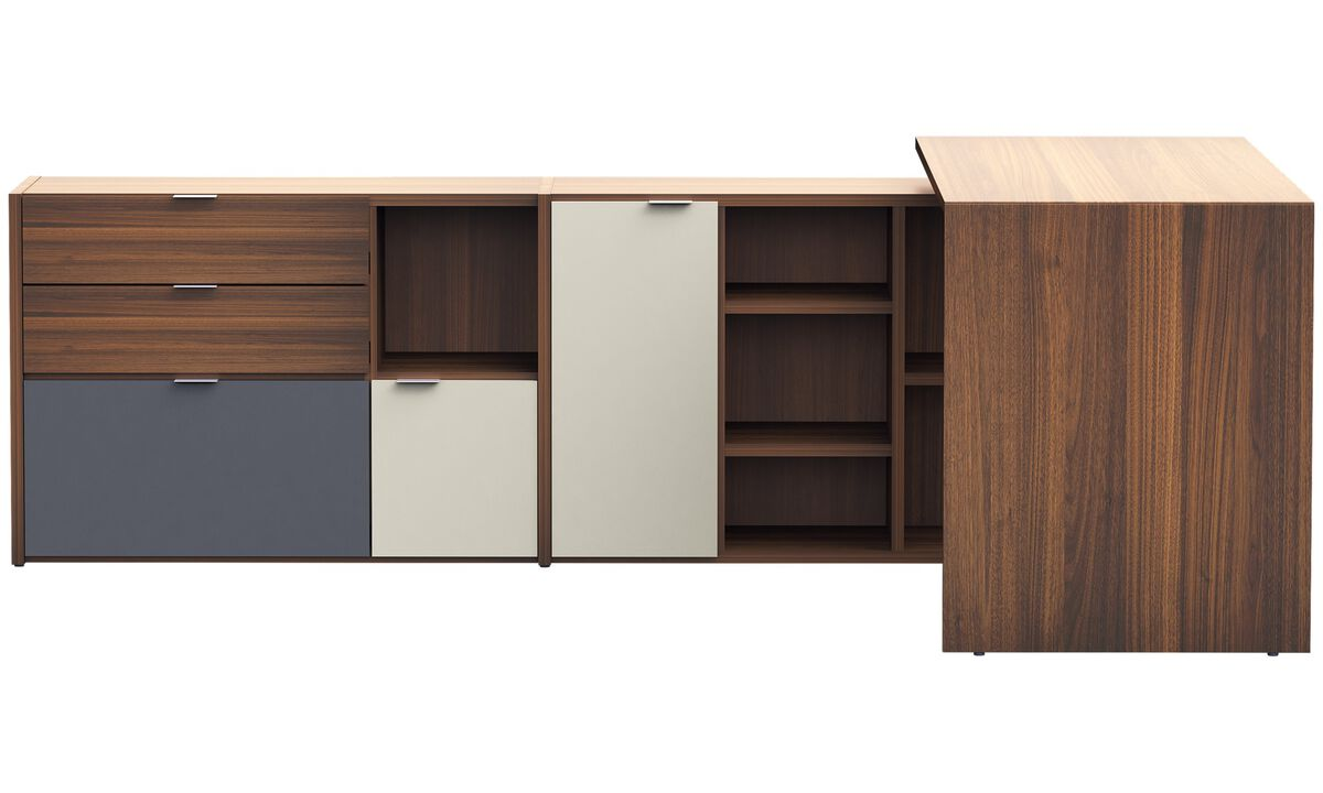 Wall systems - Copenhagen office system - Brown - Walnut