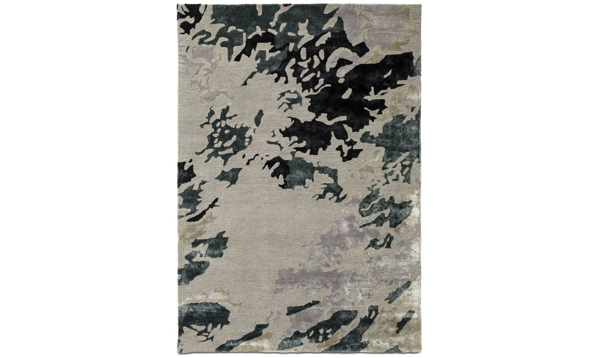 Rectangular rugs - Smash rug - rectangular - Grey - Fabric