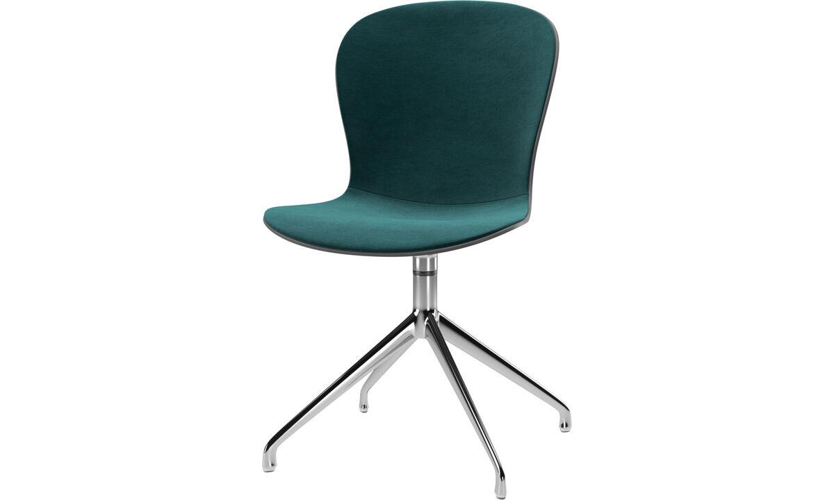 Dining chairs - scaun Adelaide cu functie de pivotare - Albastru - Tesatura