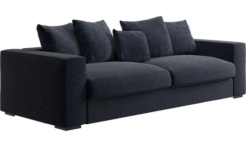 Navy Blue Napoli - sofa Cenova - Niebieski - Tkanina