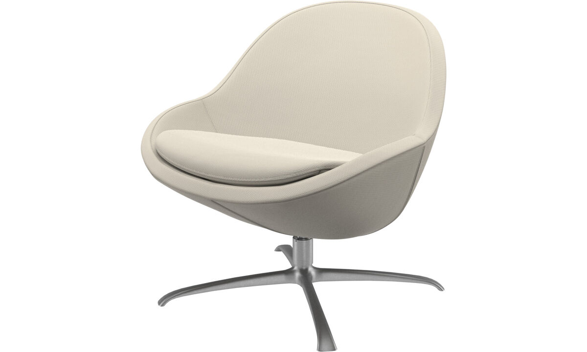 New designs - Veneto chair with swivel function - White - Fabric