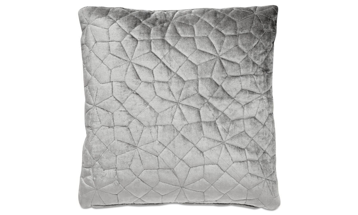 Cushions - Quilt cushion - Grey - Fabric