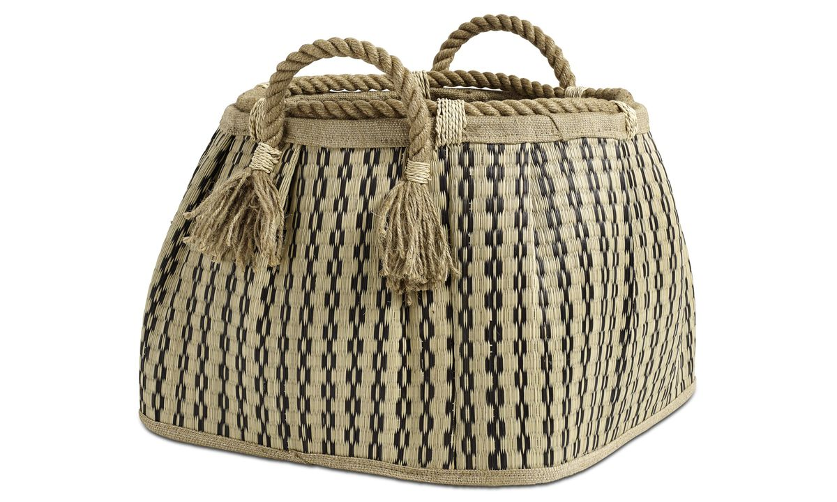 Small storage - Stripes basket - Beige - Fabric