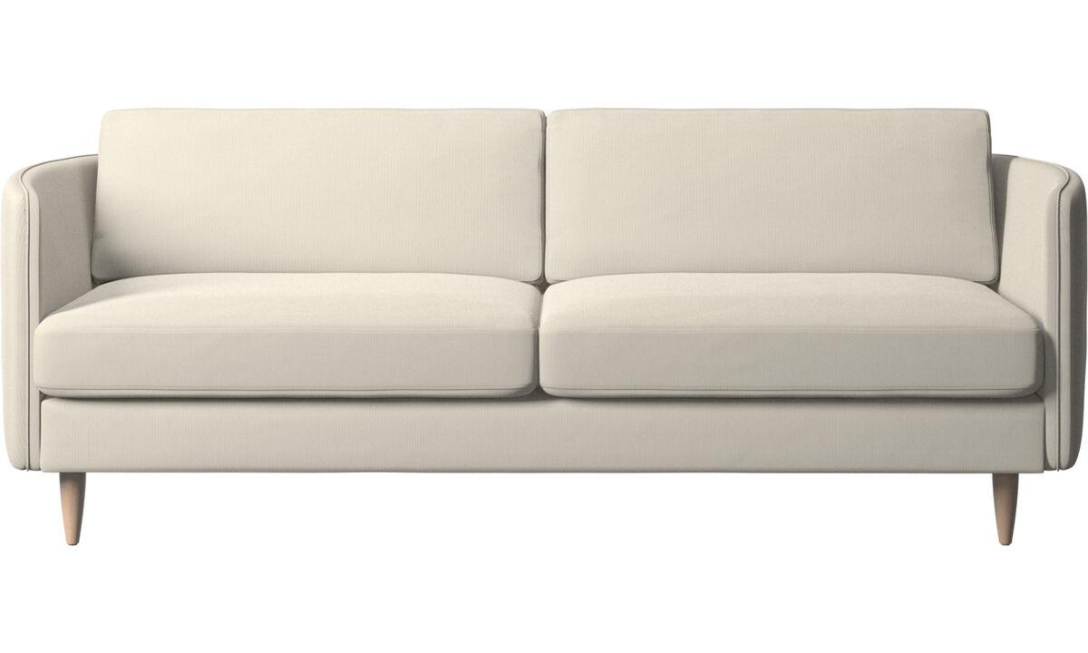 2.5 seater sofas - Osaka sofa, regular seat - White - Fabric