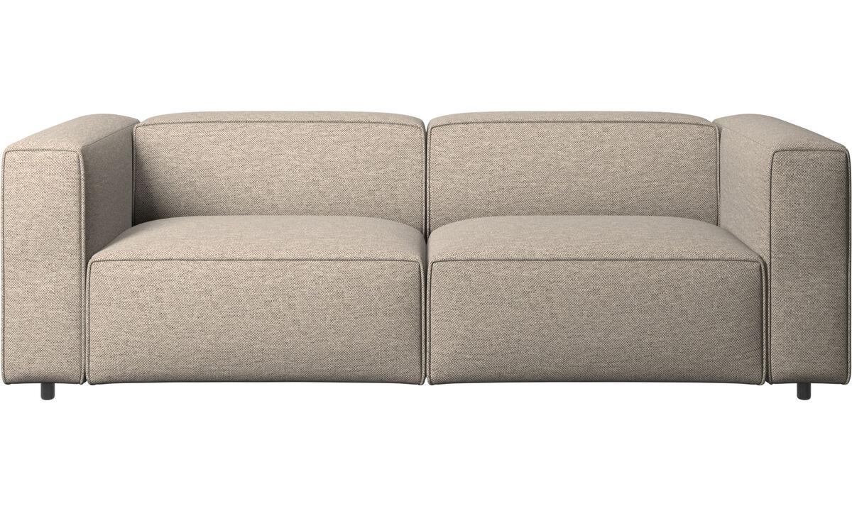 Sofás reclinables - Sofá Carmo con movimiento - En beige - Tela