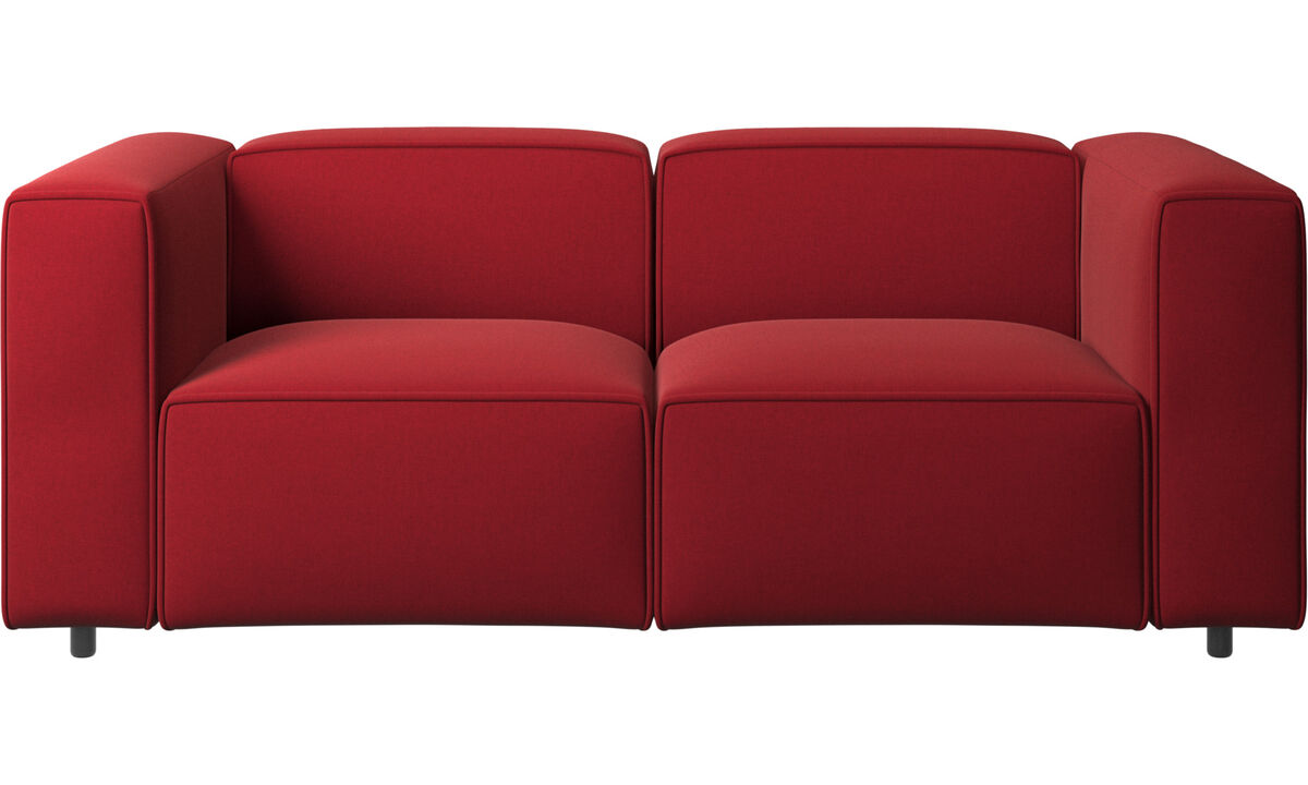 2 personers sofaer - Carmo sofa - Rød - Stof