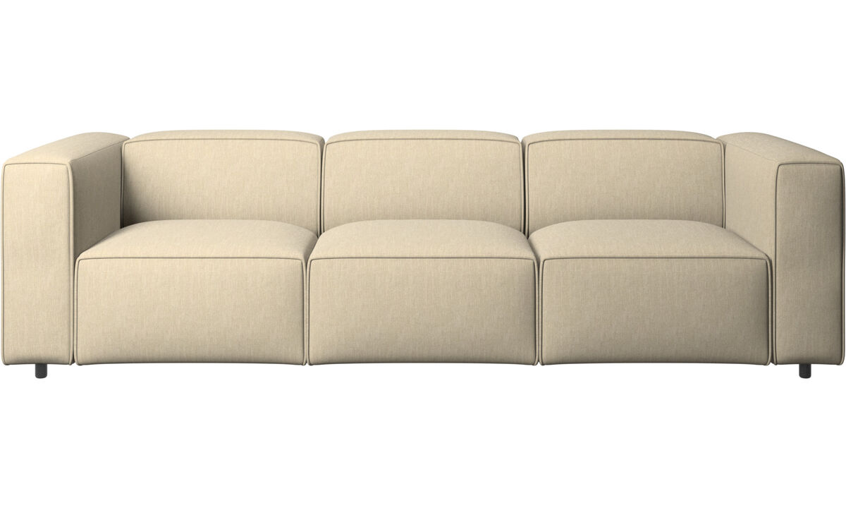 3 seater sofas - Carmo sofa - Brown - Fabric