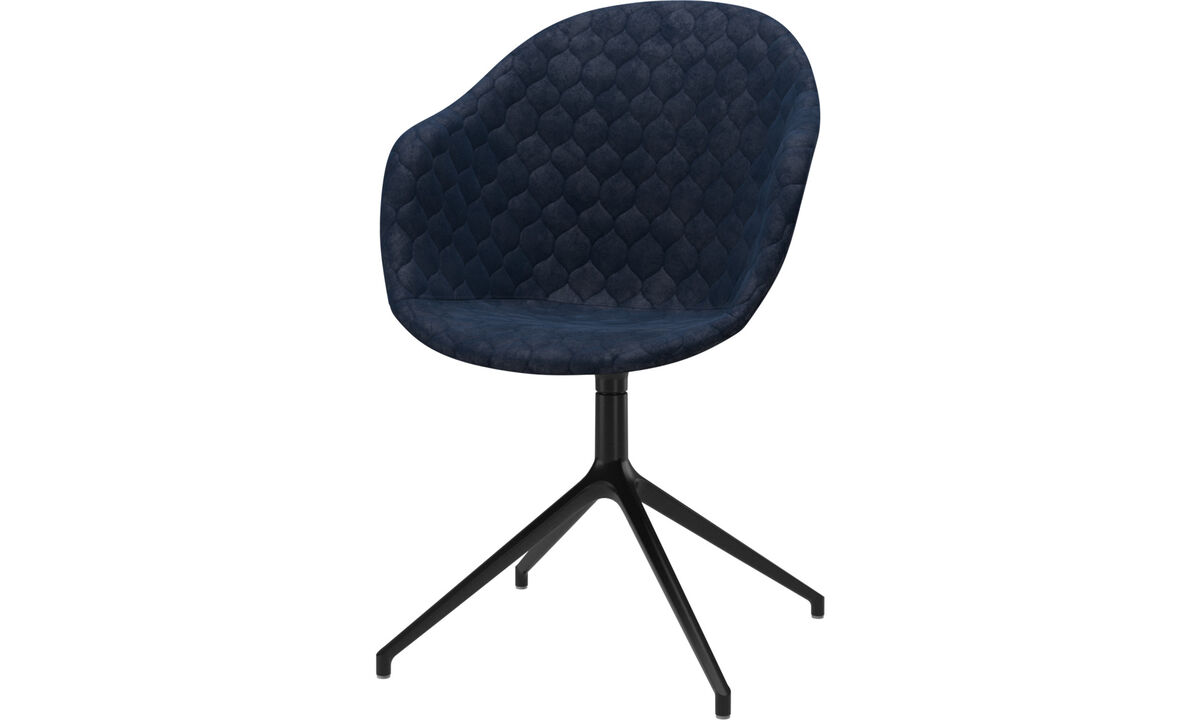 Dining Chairs Singapore - Adelaide chair with swivel function - Blue - Fabric