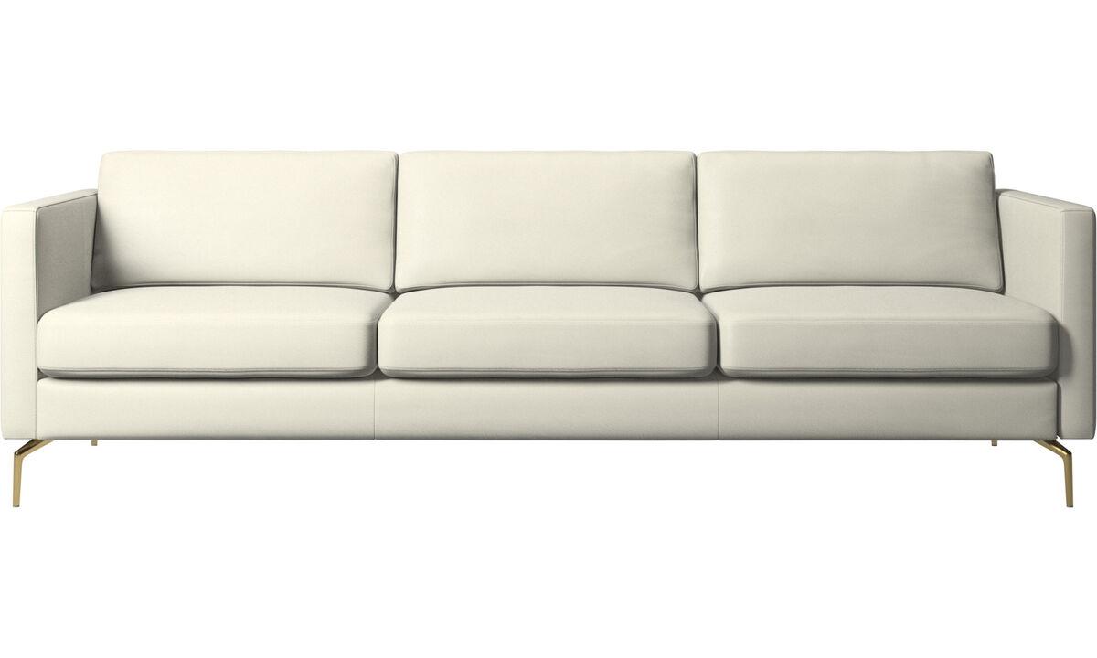 3 seater sofas - Osaka sofa, regular seat - Beige - Leather