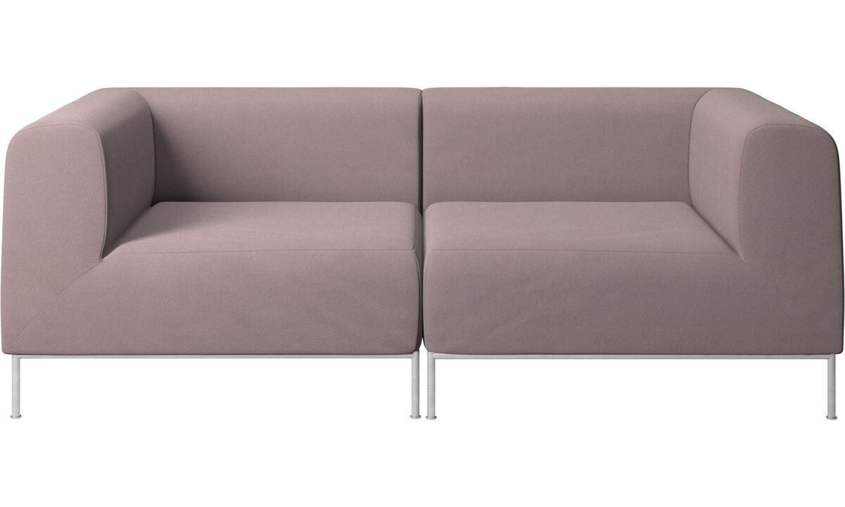 2-sitzer Sofas - Miami Sofa - Lila - Stoff