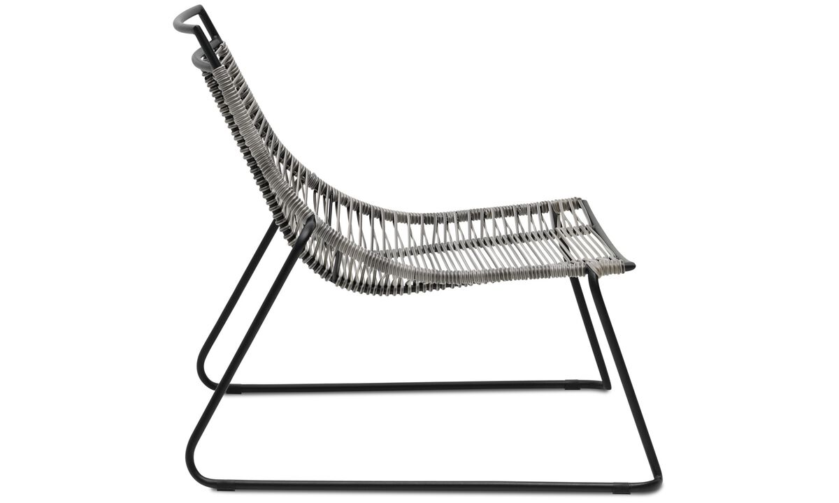 Outdoor chairs - Elba Lounge chair (for in- and outdoor use) - Gray