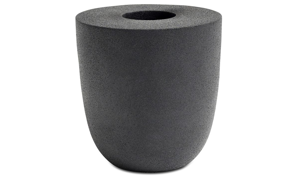 Vases - Rough vase - Black - Metal