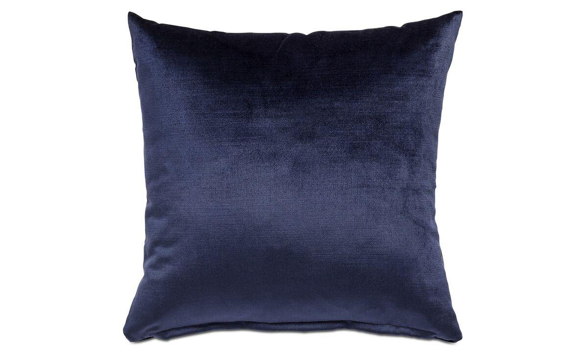 Cojines de terciopelo - Cojín Velvet - En azul - Tela