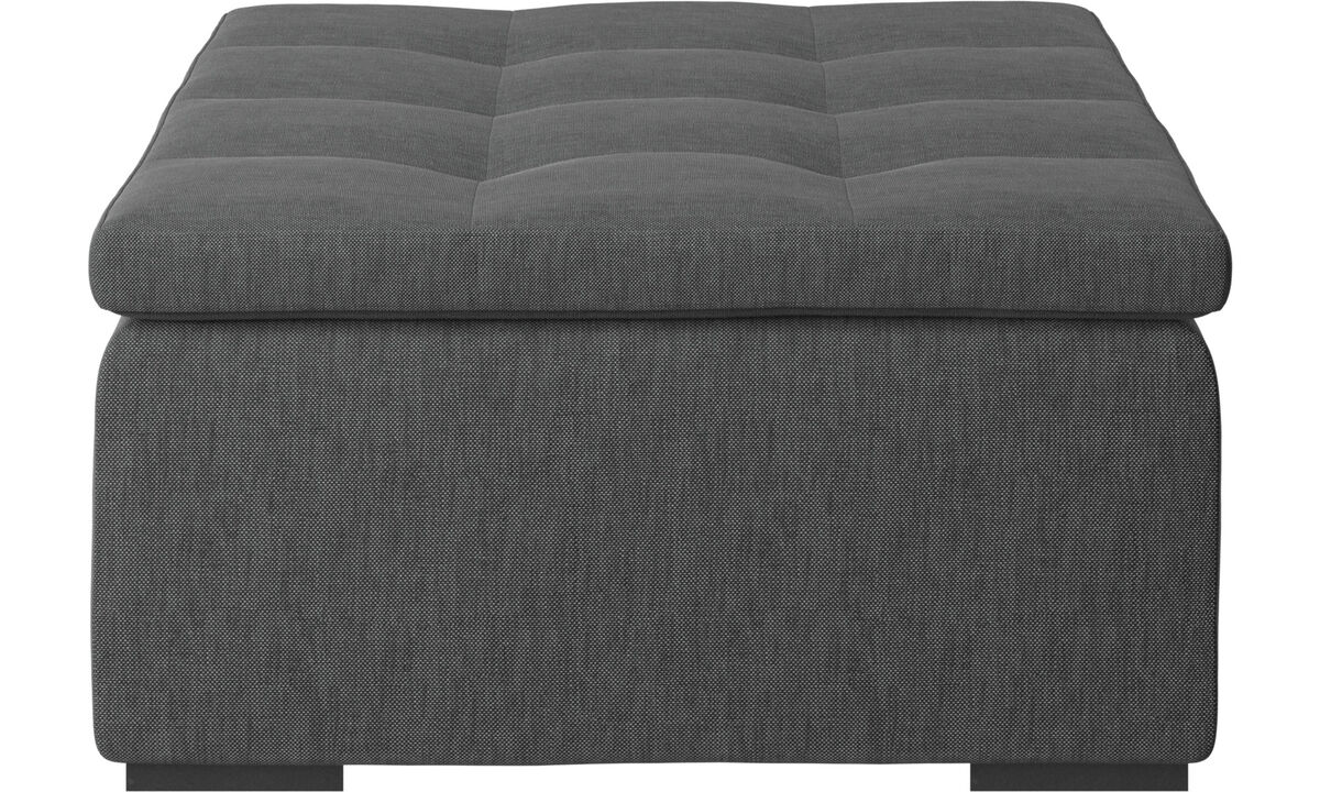 New designs - Mezzo footstool - Grey - Fabric