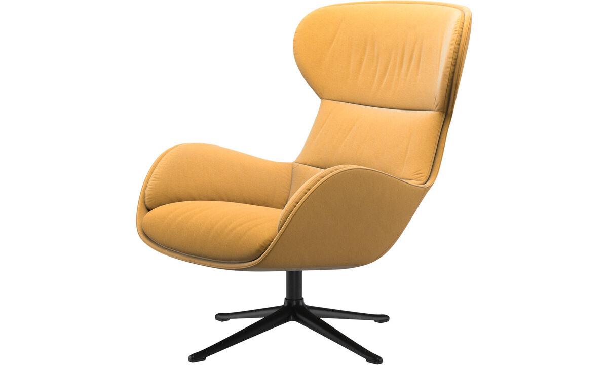 Recliners - Reno chair with swivel function - Yellow - Fabric