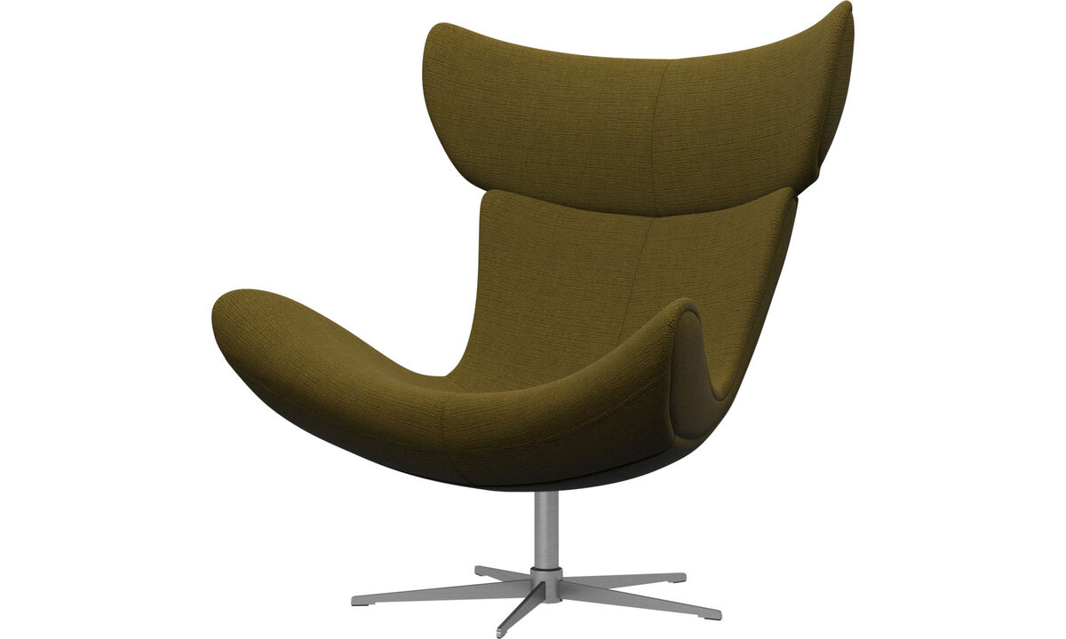 Armchairs - Imola chair with swivel function - Yellow - Fabric