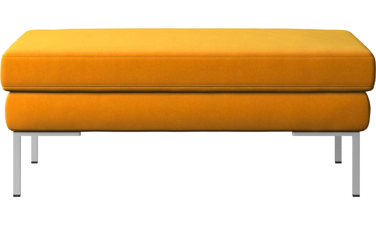 Footstools - Istra 2 footstool - Orange - Fabric
