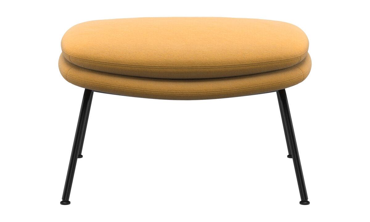 Footstools - Dublin footstool - Yellow - Fabric