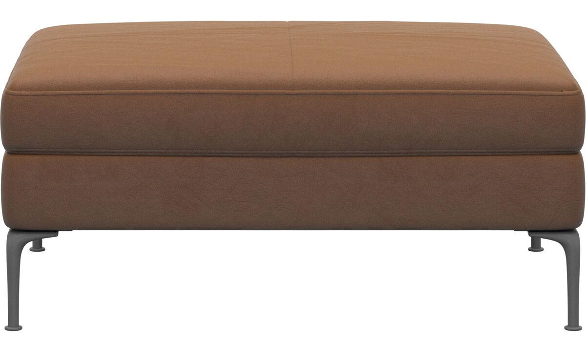 Footstools - Marseille footstool - Brown - Leather