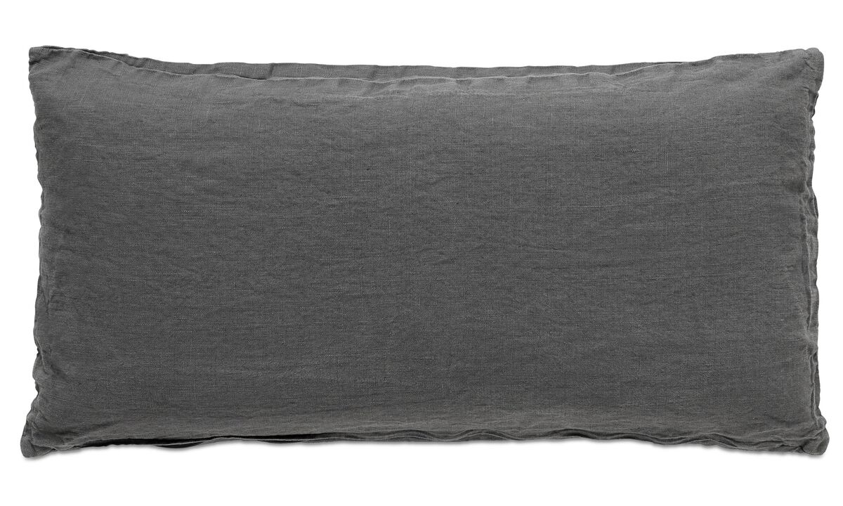 Linen cushions - Linen washed cushion - Grey - Fabric